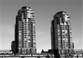 Twin towers, False Creek. Vancouver. BC