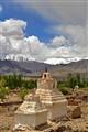 Chortens. Near Thiksey Monastery ,Ladakh, India