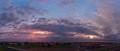 Sun set between two typhoons
