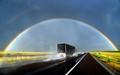 Rainbow and Truck