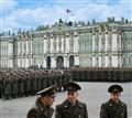 Military parade rehearsal