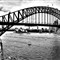 Sydney Harbor Bridge BW
