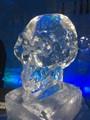 Ice skull in Ice hotel bar, Sweden