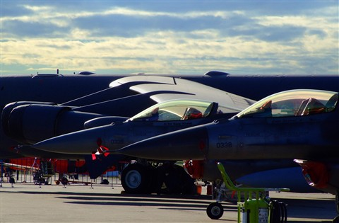 ... and combat aircraft  waiting for their heroes ...