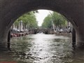 Canal in Amsterdam with bridges