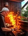 Firing some steaks