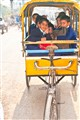 Local schoolbus in Varanasi, India