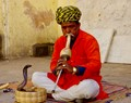Snake Charmer outside the Jaipur Palace - Central Rajasthan India - still plying their ancient trade!