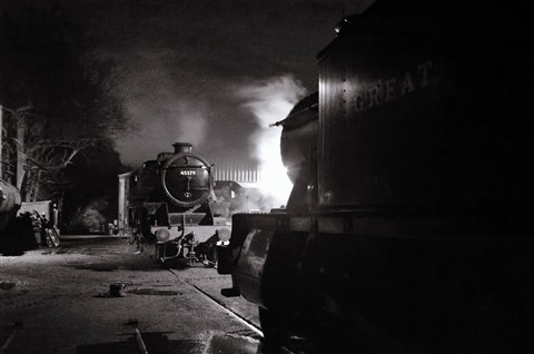 Steam Shed at Night