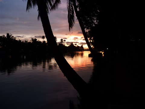 sunset of Gods Own Country