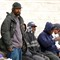 Dec 20 - Homeless Men waiting for lunch