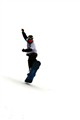 White t-shirt snowboarder