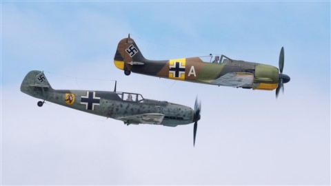 Messerschmitt Bf 109 E-3 with Focke-Wulf FW190A-5