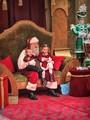 Mall Santa with 2 Happy Kids