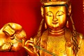 Buddha statue, Po Fook Hill Cemetery, Sha Tin, China