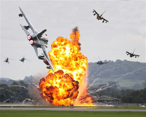 Battlescene at Yeovilton Airshow, UK