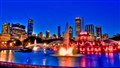 Buckingham Fountain and Chicago Lights