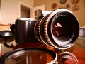"""Sony NEX-C3 camera, with Carl Zeiss Jena lens, """"Pancolar"""", 50mm, f1.8 adapted."""
