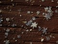Snowflakes on Wood