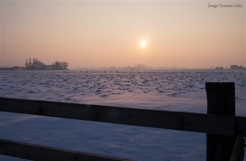 hek en lage zon