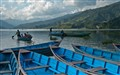 Rowboats on Phewa Lake, Pokhara, Nepal