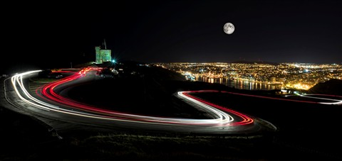 Light Trails On Signal Hill