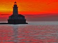 Chicago Harbor Lighthouse taken from Navy Pier approximately 25 minutes minutes prior to sunrise.