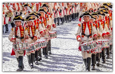 Costume and Riflemen`s Procession in Germany