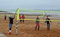 Winter beach volleyball