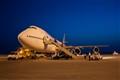 747 loading at dusk.