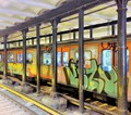 Urban Train Graffitti
