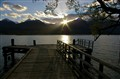 Sunset at Kinloch on Lake Wakitipu New Zealand