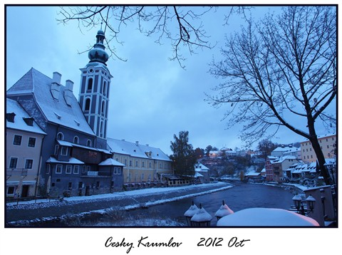 Morning in Cesky Krumlov