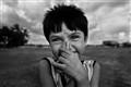 a shy smile