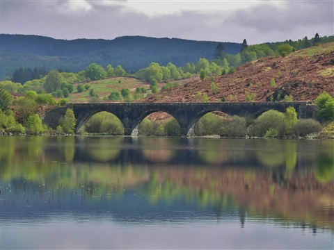 Loch Skerrow railway bridge.