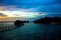 Waters clam down ... sun sets to sleep ...