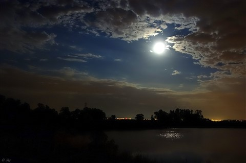 Full Moon over Pacheco Lagoon