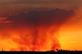 Bushfire at Sunset