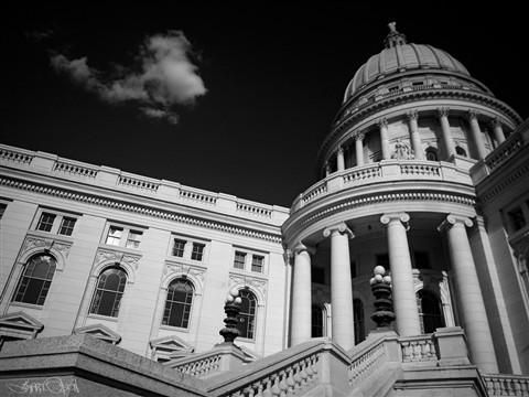 Wisconsin State Capitol - OOC BW W/filters
