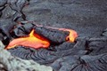Lava drop on Pu'uoo Lava Lake (Big Island Hawaii)