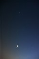 The new Moon and the Venus