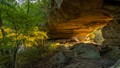 A natural arch in the Red River Gorge in the Daniel Boone National forest in Kentucky