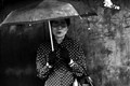 a lady with an umbrella