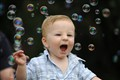 James loving the bubbles!