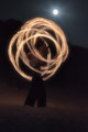 Poi Fire Under Moonlight
