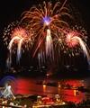 Summer fireworks over Navy Pier in Chicago.
