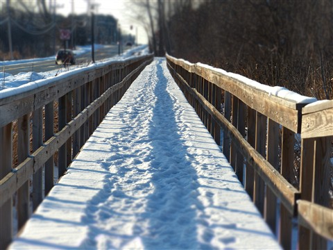 Foot bridge with Miniature Effect mode