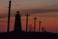 Western Light, Brier Island, Nova Scotia at sunset