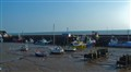 Bridlington Harbour on a sunny spring day
