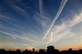 Vaportrails at sunset